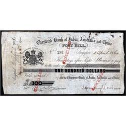 Chartered Bank of India, Australia & China, Post Bill.