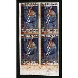 Thomas De La Rue Printer's Waste with Viet Nam Stamp Printed on Banknote