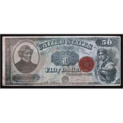 "U.S. $50 Legal Tender Look-alike Advertising Note for Polish Company ""Tajemniczy Woreczek""."