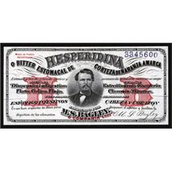 M.S.Bagley - Hesperidina Bitters Remedy Ad Note By ABNC.