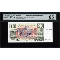 "Algerian Essay ""Printers Design Proposal"" Specimen Banknote."
