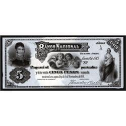 Banco Nacional Proof Banknote.