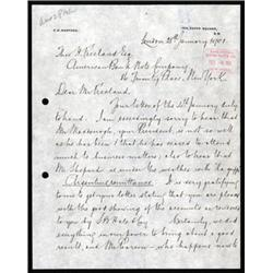 """ABNC Archival Letter Discussing an """"Argentine Duel""""."""