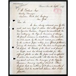 ABNC Archival Letter Discussing Secret Argentina Banknote Printing.