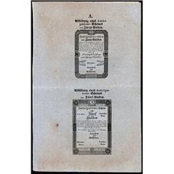 """Privilegirte Vereinigte Einlosungs Und Tilgungs Deputation, 1813 """"Formulare """"Issue."""