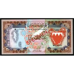 Bahrain Currency Board and Monetary Agency Specimen Banknotes.
