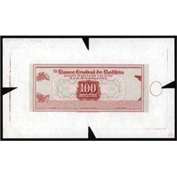 El Banco Central De Bolivia Essay Proof Banknote.