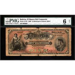 El Banco Del Comercio, 1900 Issue.