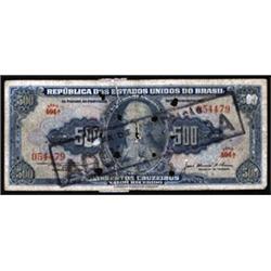 Republica Dos Estados Unidos Do Brasil Counterfeit Banknote From ABN Security Department Laboratory.