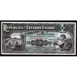 Republica Dos Estados Unidos Do Brasil - Thesouro Nacional Issued Banknote.