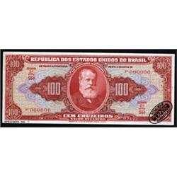 Republica Dos Estados Unidos Do Brasil - No Thesouro Nacional Specimen Banknote Quartet.