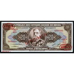 Republica Dos Estados Unidos Do Brasil - No Thesouro Nacional Specimen Banknote Trio.