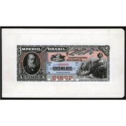 Imperio Do Brasil Proof Banknote.