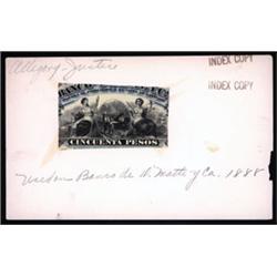 Banco de D. Matte Y Ca. Proof Vignette From ABNC Archives.