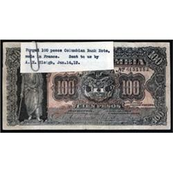 Republica de Colombia Counterfeit Banknote From ABNC Security Department.