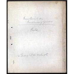Ferro-carriles de Cardenas y Jucaro ABNC Correspondence File.