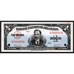 Banco Nacional De Cuba Essay Banknote by Security Banknote Company.