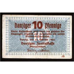 Danziger Zentralkasse - Danzig Central Finance Department, 1923 First Gulden Issue.