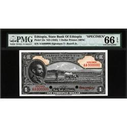 State Bank of Ethiopia Specimen Banknote.