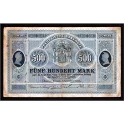 Preussische Haupt-Bank, 1874 Issue Banknote.