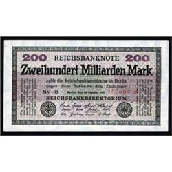 Reichsbanknote - Republic Treasury Notes, 1923 Seventh Issue.