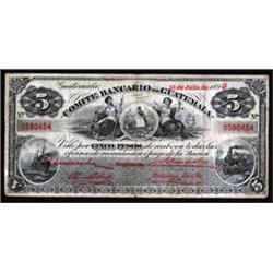 Comite Bancario De Guatemala, 1899 Issue.