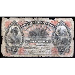 El Banco Agricola Hipotecario Scarce 1895 Variety.
