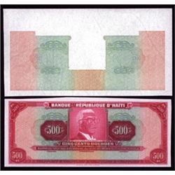 Banque De La Republique D'Haiti Tyvek Banknote Proof and Progressive Underprint.