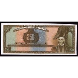 Banque De La Republique D'Haiti Tyvek Banknote Unfinished Specimen.