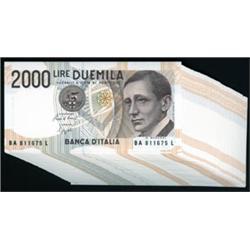 Banca D'Italia Banknotes.