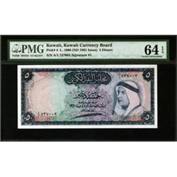 Kuwait Currency Board High Grade Banknote.