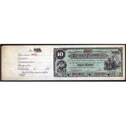 Estado De Chihuahua, Tesoreria General, Deuda Publica Specimen Banknote.