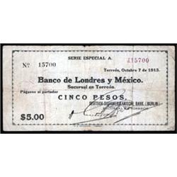 Mexico. Deutsch-Sudamerikanische Bank (Berlin) - Banco De Londres Y Mexico.