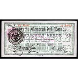 Tesoreria General del Estado, 1913 General Francisco Villa Issue.