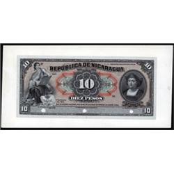 Republica De Nicaragua Proof Banknote.