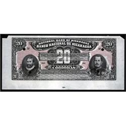Banco Nacional De Nicaragua-National Bank of Nicaragua Color Trial Banknote.