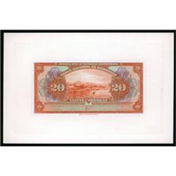 Banco Central De Nicaragua, 1927-39 Issue Proof.