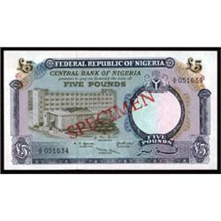 Central Bank of Nigeria, 1967 ND Issue Specimen Quartet.