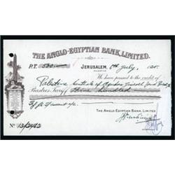 Anglo-Egyptian Bank, Limited Check or CD.