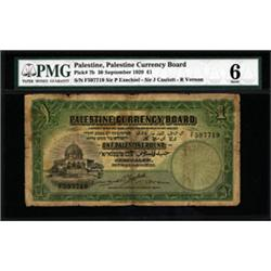 Palestine Currency Board, 1927 Issue.