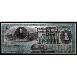 Billete Provisional Banknote Pair.