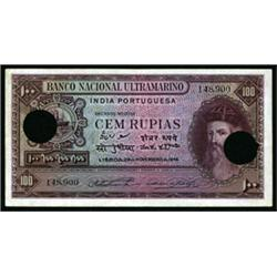 Banco Nacional Ultramarino, India Portuguesa, 1945 Issue.