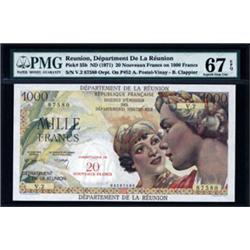 Department De La Reunion Superb Banknote.