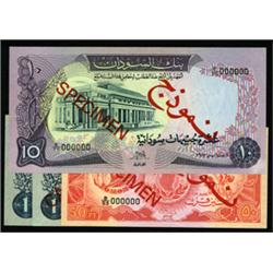 Bank of Sudan Specimen Banknote Quartet.