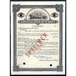 National Bank of Turkey Letter of Credit Specimen.