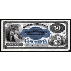 Banco Oriental, Montevideo, 1867-69 Issue Trio