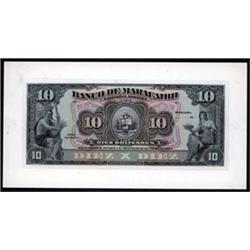 Banco De Maracaibo Proof Banknote.