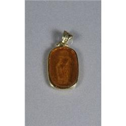 A Gold Vermeil and Glass Relief Cameo.