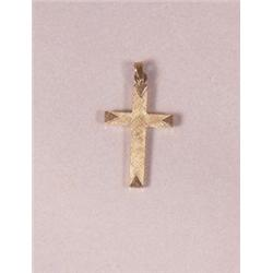 A 14 kt Yellow Gold Cross Pendant,