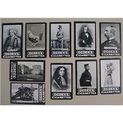 Lot Of 10 C. 1901 Ogden Tab Cigarette Cards - Incl